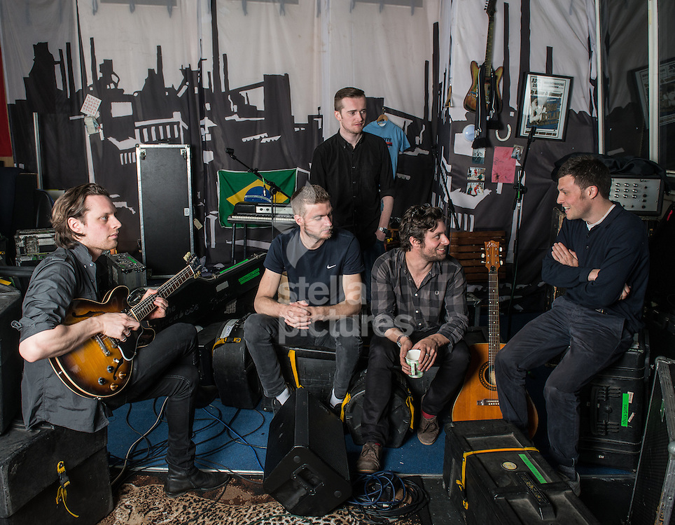 Indie band The Maccabees pictured at their south London studio.<br /> Picture by Daniel Hambury/Stella Pictures Ltd +44 7813 022858<br /> 21/04/2015