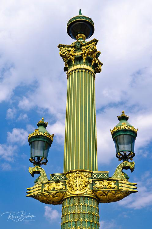 Lamps and column, Place de la Concorde, Paris, France
