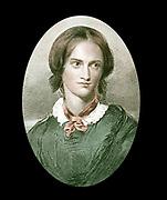 Charlotte Bronte (1816-1855) English novelist. After portrait by George Richmond. Author of 'Jane Eyre' (1847), 'Shirley' (1849), 'Vilette' (1852).