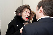 SANDRA ESQUILANT; GREGOR MUIR; , Do Not Abandon Me - private view od wok by Tracey Emin alongside that of Louise Bourgeois. <br /> Hauser & Wirth London, 15 Old Bond Street, London, 17 February 2011. -DO NOT ARCHIVE-© Copyright Photograph by Dafydd Jones. 248 Clapham Rd. London SW9 0PZ. Tel 0207 820 0771. www.dafjones.com.