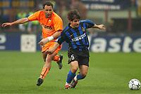Inter Milan v Valencia 09/04/03 (1-0)<br />UEFA Champions League<br />RUFETE (Inter)<br />EMRE (Valencia)<br />Photo FOTOSPORTS INTERNATIONAL/Richiardi