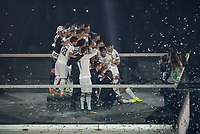 Real Madrid players during the celebration of the victory of the Real Madrid Champions League at Santiago Bernabeu in Madrid. May 29. 2016. (ALTERPHOTOS/Borja B.Hojas)