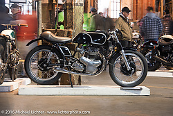 Raccia Motorcycles 1967 Kawasaki W1R at the One Show motorcycle show in Portland, OR. February 14, 2016. ©2016 Michael Lichter