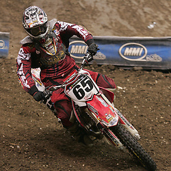 14 March 2009: Shaun Skinner (65) rides in a qualifying heat during the Monster Energy AMA Supercross race at the Louisiana Superdome in New Orleans, Louisiana