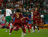 Photo: Glyn Thomas.<br />Portugal v Mexico. FIFA World Cup 2006. 21/06/2006.<br /> Mexico's Jose Fonseca (L) scores his side's first half goal.