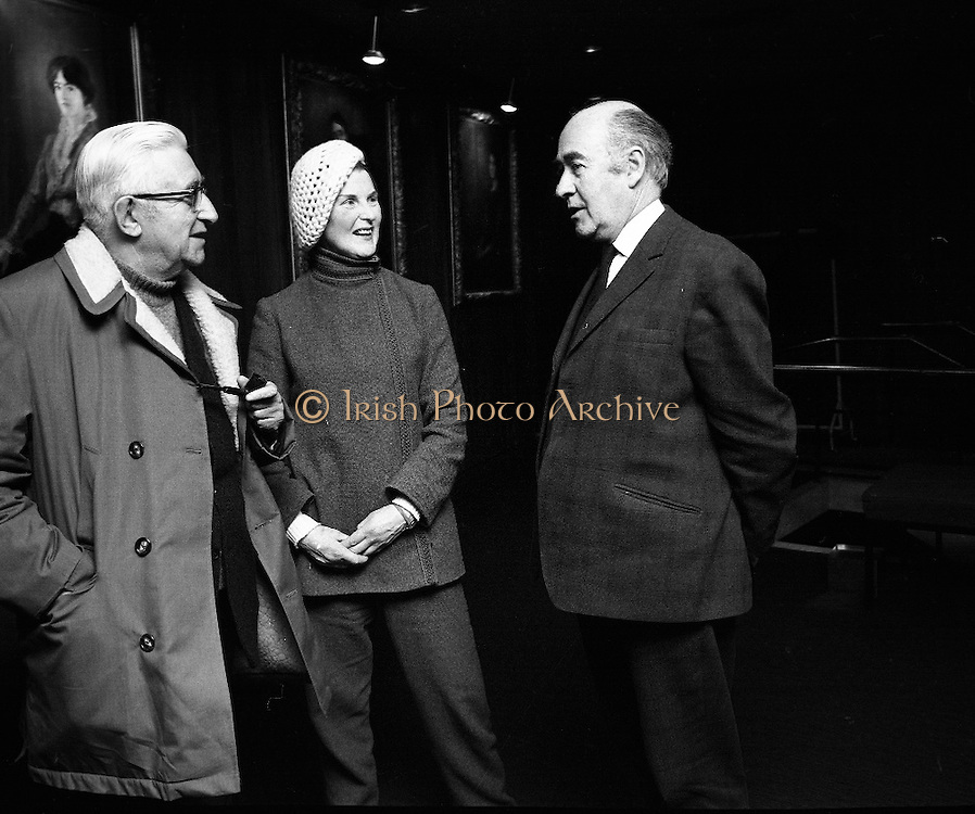 """Cork Ballet Company at the Abbey..1971..23.03.1971..03.23.1971..23rd March 1971..The Cork Ballet Company is to make its first appearance in Dublin on Sunday March 28th in the Abbey Theatre.The company will perform two ballets, details of which were announced at the press conference in The Abbey Theatre. Miss Joan Denise Moriarty,Director of the ballet company,said that the two ballets to be performed are """"West Cork Ballad"""" with music by Sean O'Riada and """"Coppelia"""" by Delibes..Among those present at the announcement of Cork Ballet performing at the abbey were .Ms Joan Denise Moriarty, Director,Cork Ballet and Mr Mervyn Wall, Secretary,Arts Council."""