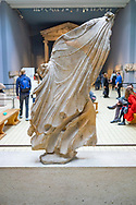 Female figure from The Elgin Marbles from the Parthenon in The British Museum