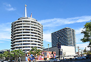 Capitol Records Building In Los Angeles California