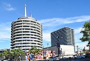 Capitol Records Building In Los Angeles California