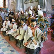 Sacro Monte di Orta Cappella XX: canonizzazione di San Francesco con la presenza di re, principi, cardinali e vescovi<br /> <br /> Sacred Mount of Orta Chapel XX: canonization of Francesco Saint. Were present princes, king, cardinals and bishops.