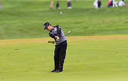 September 10, 2018 - Newtown Square, Pennsylvania, United States - Kevin Na hits a fairway shot on the 16th hole during the final round of the 2018 BMW Championship. (Credit Image: © Debby Wong/ZUMA Wire)