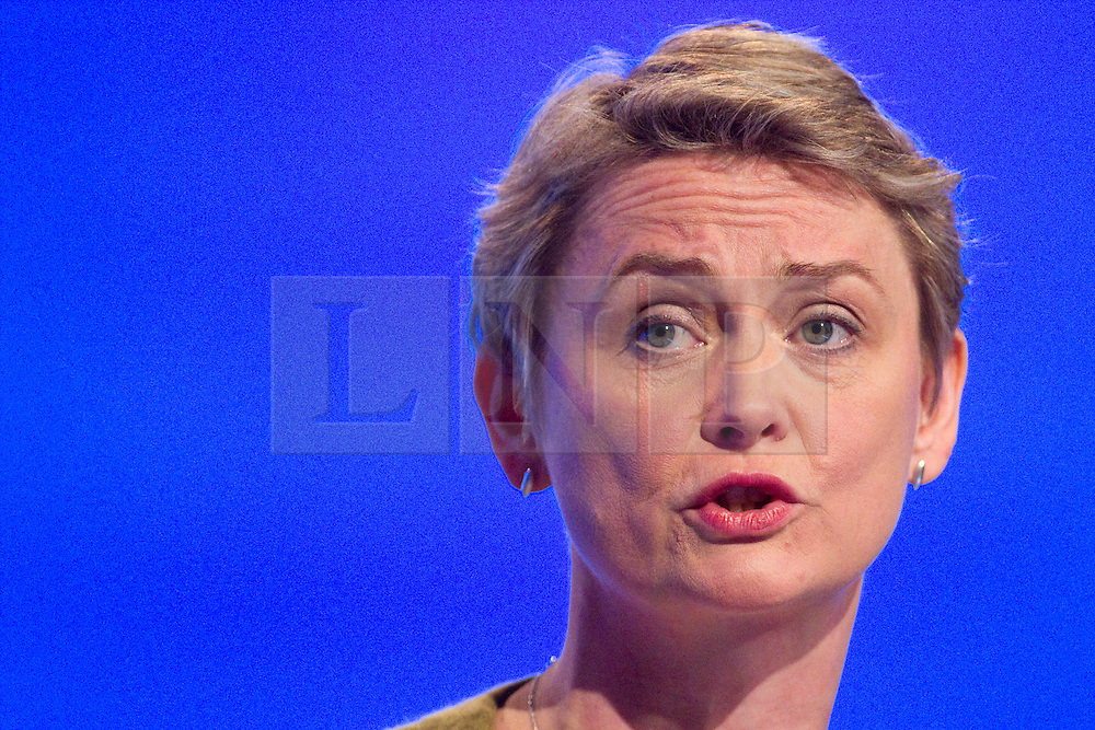 © Licensed to London News Pictures. 30/09/2012. Manchester, UK . Yvette Cooper speaks from the podium . Labour Party Conference Day 1 at Manchester Central . Photo credit : Joel Goodman/LNP