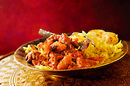 Traditional Indian Lamb Curry with Pilau Rice & naan bread