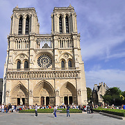 Facade of Notre Dame de Paris, France