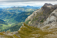 This is the view looking east from the Tête aux Chamois cable car station. Schluchhorn is the mountain on the right.