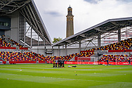 Brentford huddle ahead of the EFL Sky Bet Championship match between Brentford and Watford at Brentford Community Stadium, Brentford, England on 1 May 2021.