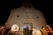 At night, some  men do the wedding proclamation in front of the local church. In group, they shout the names of single men and women they want to see married. The next morning, the new couples have to take breaskfast together.