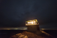 This was my second time staying the night at the Diamond Butte fire lookout tower. Last month I was locked out and had to sleep on the deck, but I was glad to be able to sleep inside this time since a storm was moving in. There was no running water or electricity, but it had a propane heater, stove, and lights.