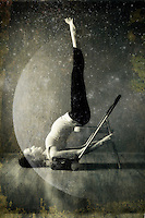 """Restorative yoga with the moon and stars.<br /> :::<br /> """"The new physics provides a modern version of ancient spirituality. In a universe made out of energy, everything is entangled; everything is one.""""<br /> Bruce Lipton"""