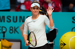 May 8, 2019 - Madrid, MADRID, SPAIN - Belinda Bencic of Switzerland in action during the third round of the 2019 Mutua Madrid Open WTA Premier Mandatory tennis tournament (Credit Image: © AFP7 via ZUMA Wire)