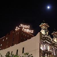 USA, California, San Diego. Wyatt Earp's Historic Gambling Hall & Casino & Hotel St. James, downtown San Diego.