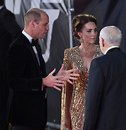 Tuesday 28 September 2021<br />Bond: No Time To Die - world film. premiere <br />The Royal Albert Hall<br />Prince William, Duke  and Duchess of Cambridge,