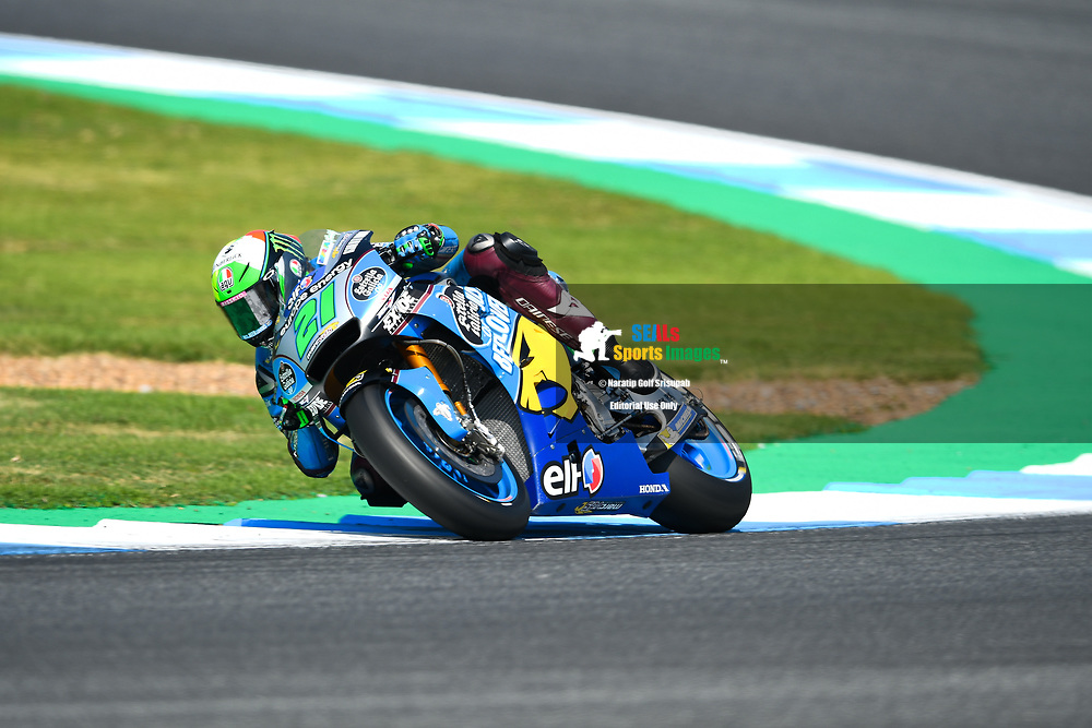 BURIRAM, THAILAND - OCTOBER 06: Franco Morbidelli (21) of Italy and EG 0,0 Marc VDS in Turn 3 during FP3 at the MotoGP PTT Thailand Grand Prix 2018, Chang International Circuit, Buriram, Thailand on October 06, 2018. <br /> .<br /> .<br /> .<br /> (Photo by: Naratip Golf Srisupab/SEALs Sports Images)<br /> .<br /> Any image use must include a mandatory credit line adjacent to the content which should read: Naratip Golf Srisupab/SEALs Sports Images
