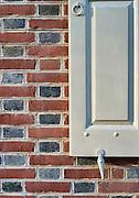 Colonial shutter and brick work, Old City, Philadelphia, Pennsylvania, USA