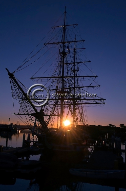 Dawn Treader, Tall Ship Pilgrim at Sunrise, Dana Point Harbor