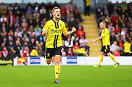 Burton Albion midfielder Jamie Allen (4) scores and celebrates his goal during the EFL Sky Bet League 1 match between Burton Albion and Sunderland at the Pirelli Stadium, Burton upon Trent, England on 15 September 2018.