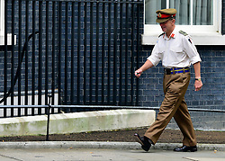 © Licensed to London News Pictures. 18/09/2012. Westinster, UK LEFT: General Sir David Richards Chief of the Defence Staff (CDS)  Cabinet meeting today in Downing Street 18 September 2012. Photo credit : Stephen Simpson/LNP