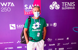 PORTOROZ, SLOVENIA - SEPTEMBER 17:  Coach Renzo Furlan during the WTA 250 Zavarovalnica Sava Portoroz at SRC Marina, on September 17, 2021 in Portoroz / Portorose, Slovenia. Photo by Vid Ponikvar / Sportida