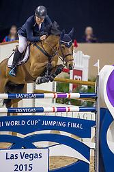 Gulliksen Geir, NOR, Edesa S Banjan<br /> World Cup Final Jumping - Las Vegas 2015<br /> © Hippo Foto - Dirk Caremans<br /> 17/04/2015