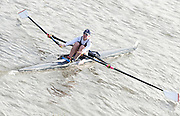 London, Great Britain, 2008 Scullers Head of the River Race,  Andrea DENNIS, racing over the Championship Course, Mortlake to Putney, on the River Thames.   Saturday, 06/12/2008. [Mandatory Credit: ? Peter Spurrier/Intersport Images]. Rowing Course: River Thames, Championship course, Putney to Mortlake 4.25 Miles,