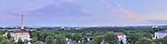 Panoramic View of Washington, DC.  Includes The Capitol, Washington Monument, Smithsonian Mall, Organization of American States, Jefferson Memorial, Reagan National Airport, and Lincoln Memorial..Print Sizes (inches): 15x4; 24x6.5; 36x10; 48x12.5; 60x16; 72x19