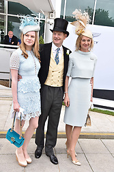 The Earl & Countess of Derby and their daughter Lady Henrietta Stanley at The Investec Derby, Epsom Racecourse, Epsom, Surrey, England. 02 June 2018.