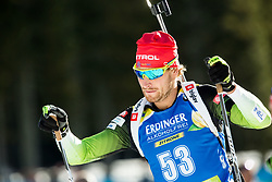 Klemen Bauer (SLO) in action during the Men 10km Sprint at day 6 of IBU Biathlon World Cup 2018/19 Pokljuka, on December 7, 2018 in Rudno polje, Pokljuka, Pokljuka, Slovenia. Photo by Vid Ponikvar / Sportida