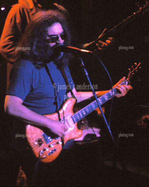 Jerry Garcia performing with The Grateful Dead at Shea's Buffalo Theater New York on 20 January 1979