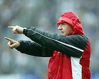 """Trainer Willi Reimann deutet es an """"2. Liga wir kommen"""" Frankfurt<br /> Bundesliga Hamburger SV - Eintracht Frankfurt"""