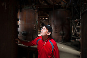 Parmenter Welty explores the power plant in Kennecott, Alaska, site of the historic Kennecott Copper Mine.
