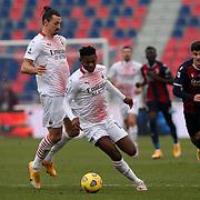Bologna 30/01/2021 Stadio Renato Dall'Ara<br /> Serie A Tim :  Bologna FC vs AC Milan<br /> Rafael Leao e Zlatan Ibrahimovic (Milan)