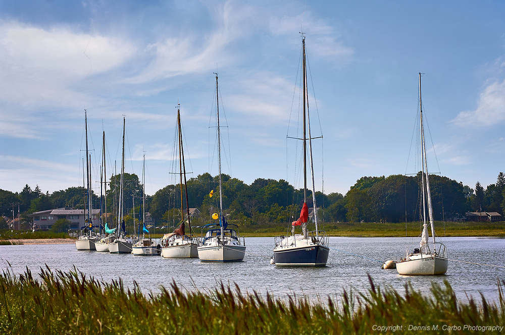 Boats on East River - Guilford, CT