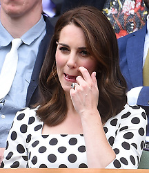 The Duchess of Cambridge watches Andy Murray play against Alexander Bublik at the Wimbledon Championships at The All England Lawn Tennis and Croquet Club in Wimbledon, London, UK, on the 3rd July 2017. 03 Jul 2017 Pictured: Catherine, Duchess of Cambridge, Kate Middleton. Photo credit: James Whatling / MEGA TheMegaAgency.com +1 888 505 6342