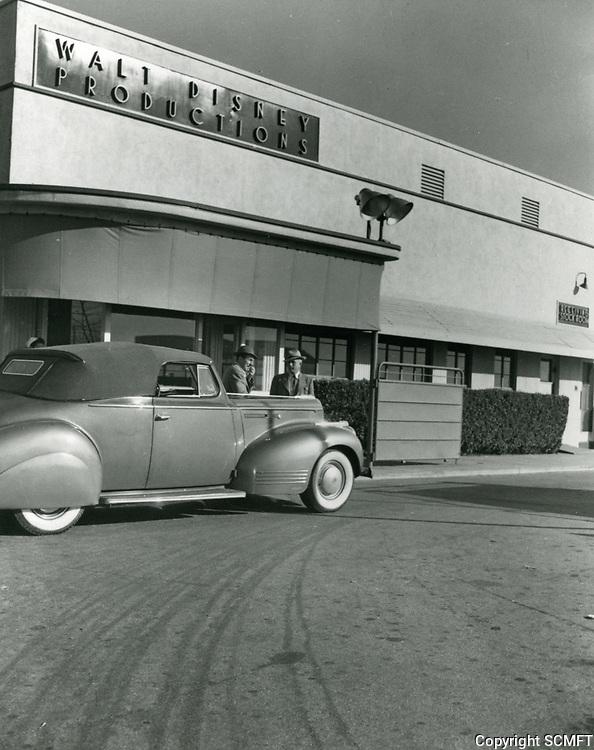 1940 Entrance to Walt Disney Studios in Burbank