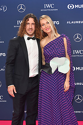 February 18, 2019 - Monaco, Monaco - Carles Puyol and Vanessa Nadales arriving at the 2019 Laureus World Sports Awards on February 18, 2019 in Monaco  (Credit Image: © Famous/Ace Pictures via ZUMA Press)