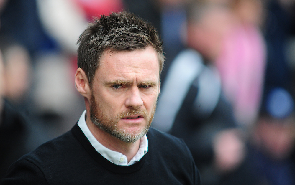 Fleetwood Town manager Graham Alexander <br /> <br /> Photographer Chris Vaughan/CameraSport<br /> <br /> Football - The Football League Sky Bet League One - Chesterfield v Fleetwood Town - Saturday 28th February 2015 - Proact Stadium - Chesterfield<br /> <br /> © CameraSport - 43 Linden Ave. Countesthorpe. Leicester. England. LE8 5PG - Tel: +44 (0) 116 277 4147 - admin@camerasport.com - www.camerasport.com