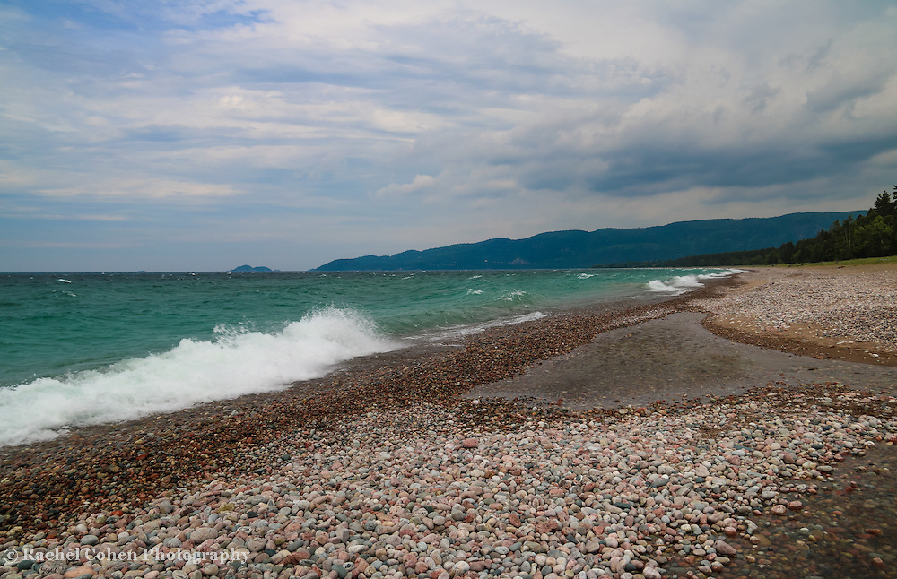 """""""Agawa Bay""""<br /> <br /> A beautiful and stormy scene at Agawa Bay in Lake Superior Provincial Park, in Ontario, Canada!"""