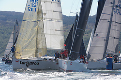 Sailing - SCOTLAND  - 25th-28th May 2018<br /> <br /> The Scottish Series 2018, organised by the  Clyde Cruising Club, <br /> <br /> First days racing on Loch Fyne.<br /> <br /> RC35 Class Start, with GBR1121L, Tangaroa, Eliz & Des Balmforth, CCC, Pronavia 38, TBA4, Storm, David Kelly, HYC/RSC,J109<br /> <br /> Credit : Marc Turner<br /> <br /> <br /> Event is supported by Helly Hansen, Luddon, Silvers Marine, Tunnocks, Hempel and Argyll & Bute Council along with Bowmore, The Botanist and The Botanist