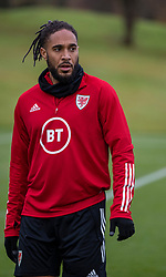 CARDIFF, WALES - Sunday, November 17, 2019: Wales' captain Ashley Williams during a training session at the Vale Resort ahead of the final UEFA Euro 2020 Qualifying Group E match against Hungary. (Pic by David Rawcliffe/Propaganda)