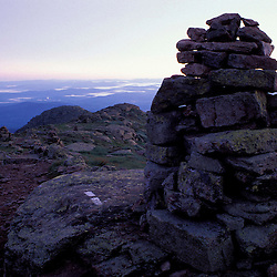 Mt. Lafayette. Franconia Ridge. Appalachian Trail. Sunrise. Cairns.  White Mountain N.F., NH